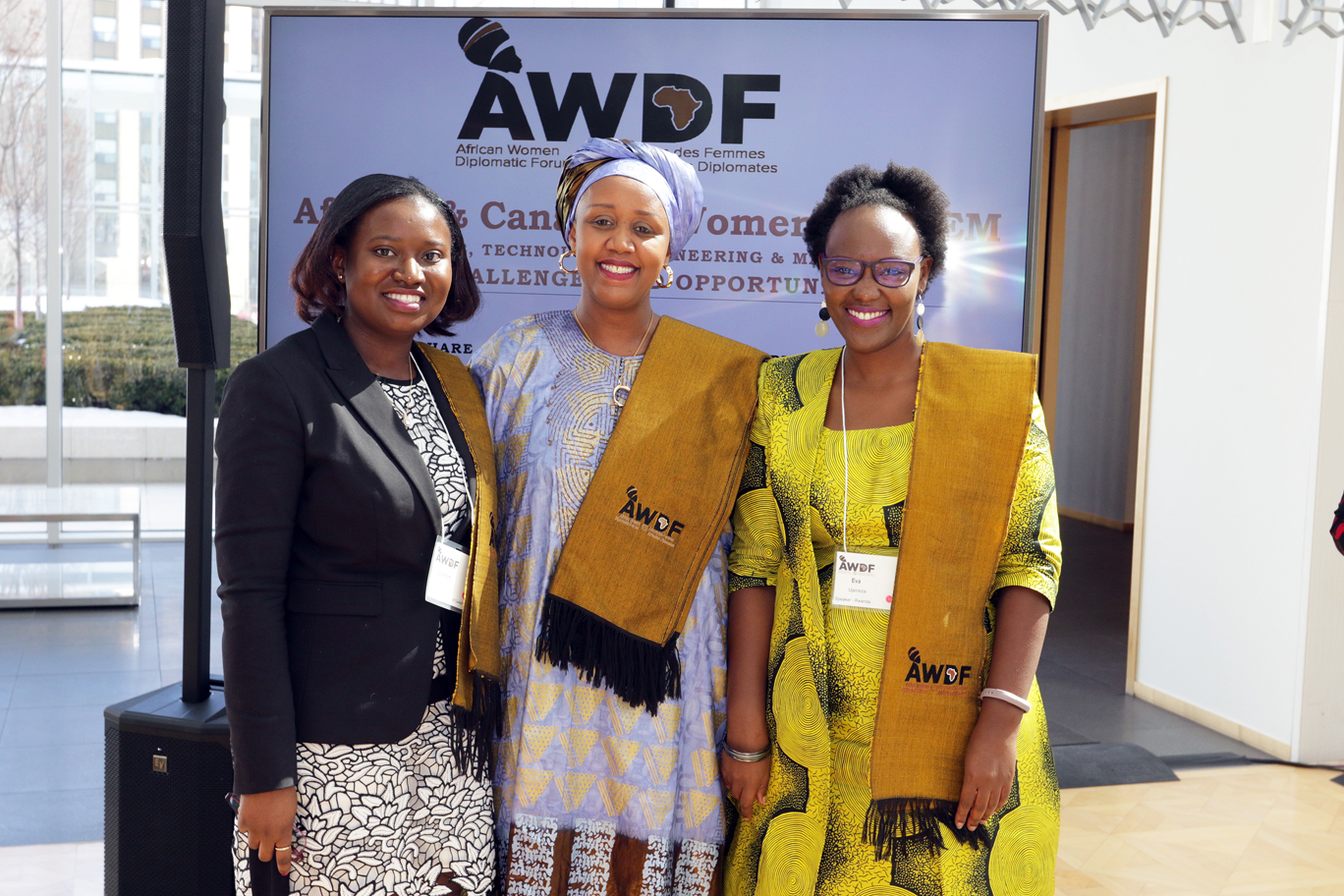 AIMS alumni at the African Women in STEM conference